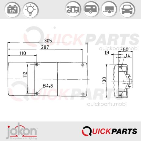 Multiple Function Light | 12V | Jokon E1-63235
