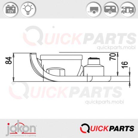 Rückfahrscheinwerfer | 12V | Jokon E4-9485