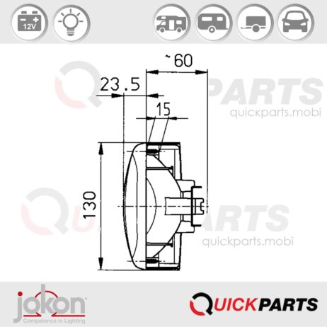 Multiple Function Light | 12V | Jokon E1-785