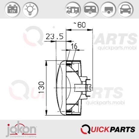 Feu de Multifonction | 12V | Jokon 10.2041.011, E1-767, BBSN 562