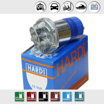 Electrical Fuel Pump 12V | 60-80l/h | Hardi 13312 | long life Easy to install
