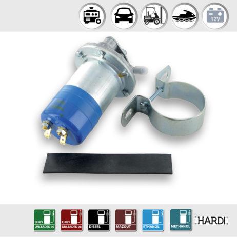 Bomba eléctrica de combustible con voltaje 12 V | 60-80l/h | Hardi 13312