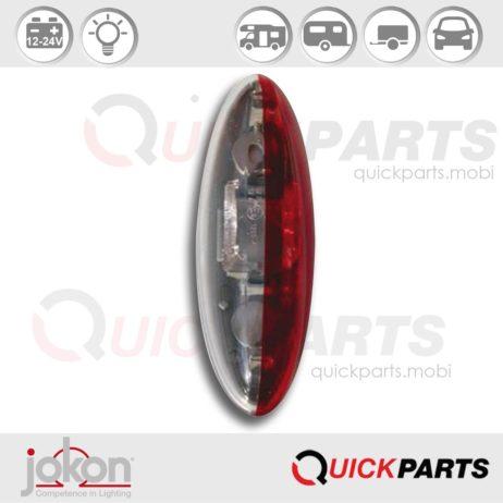 Feu de gabarit, d'encombrement, montage en surface, ampoule navette (non fournie), passage du câble en haut du feu | Jokon 12.0013.010, E9-1299, SPL 2010