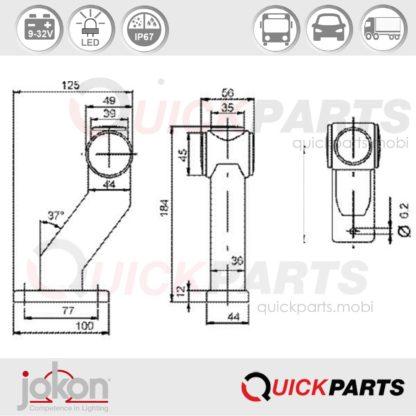 LED Umrissleuchte   9-32V   Jokon E2-08101