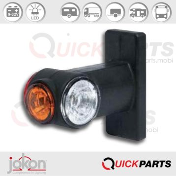 LED End-Outline Marker Light Left - Right | Jokon 12.0017.000, E2-08101, SPL 2020 G