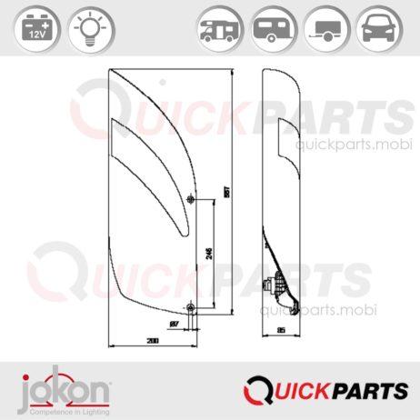 Multifunktionsleuchte Dreieck-RS | 12V | Jokon E1-03028
