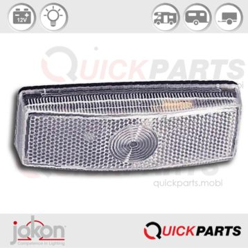 Front Marker with integrated reflector | 12V | Jokon 11.1007.001, E3-0253608