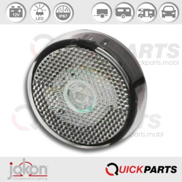 LED Front Marker Light | 12V | Jokon E2-07077 E2-07078