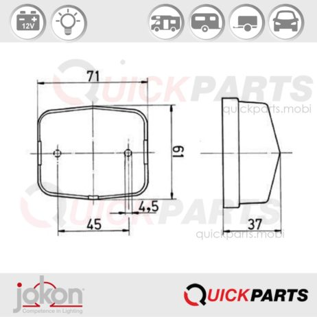 Front Marker Light | 12V | Jokon E1-21643