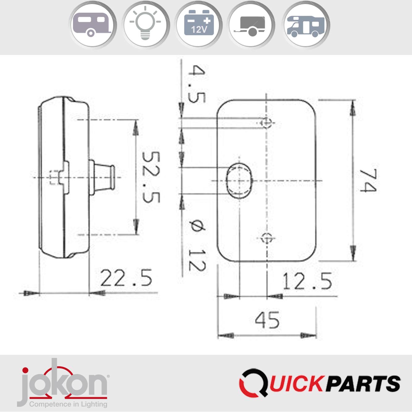 Feux de position avant | 12V | Jokon E1 0221653