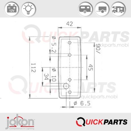 Front Marker Light | 12V | Jokon E3-0253608 E3-0254153