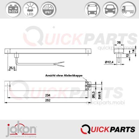 LED Stop Light | 9-32V | Jokon E13-13261 EMV / EMC