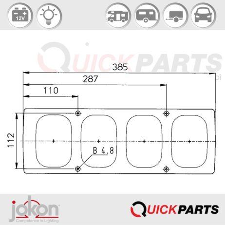 Multifunktionsleuchte | 12V | Jokon E1-786