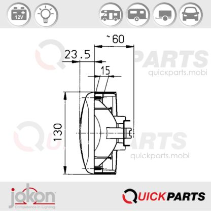 Multiple Function Light | 12V | Jokon E1-786