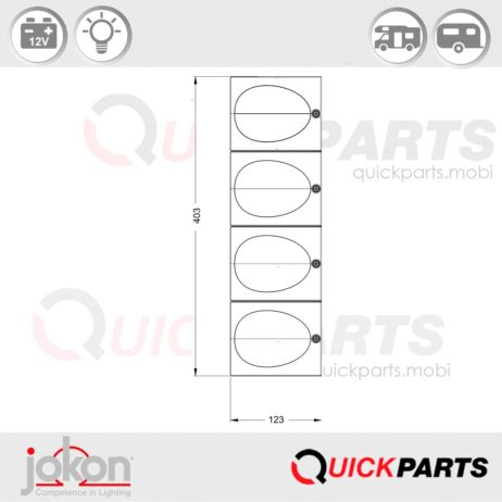 Modular Reversing Light| Jokon E1-2217