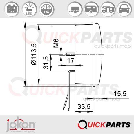 Feux Led Multifonction Stop / Position | Jokon e1-4231