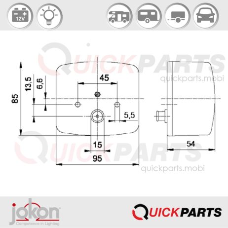 Multiple Function Right applicable | 12V | Jokon E1-43369