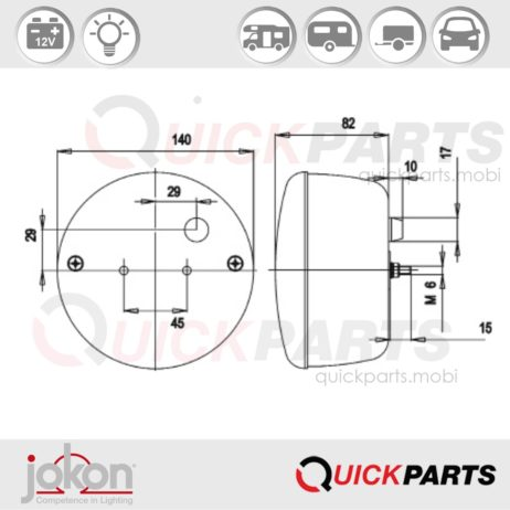 Multiple Function Light | 12V | Jokon E1-1146