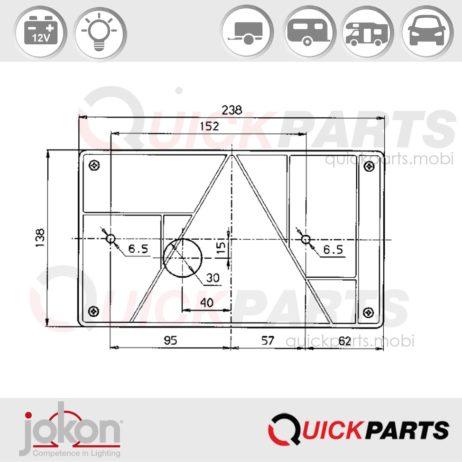 Multifunktionsleuchte / Rechts | 12V | Jokon E2-1281
