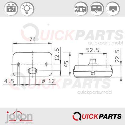 Side Marker Light | 12V | Jokon E1-00108 E1-0221339