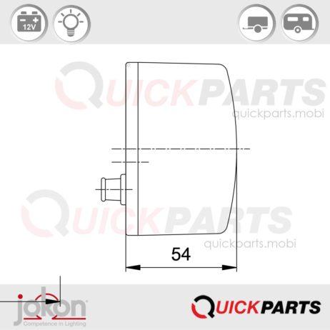 Multifunktionsleuchte /-Rechts | 12V | Jokon E1-43369