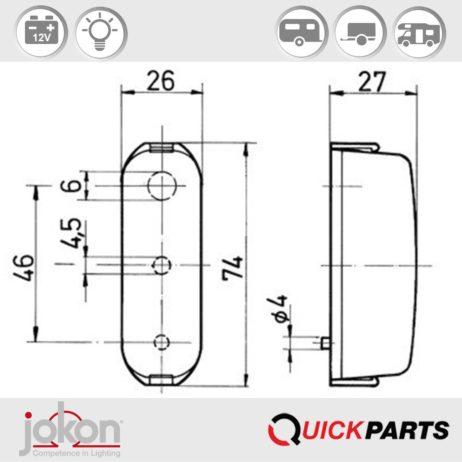 Number Plate Light | 12V | Jokon E1-12998
