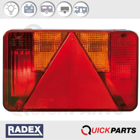 Feu Multifonction Rectangulaire Radex pour caravane, remorque
