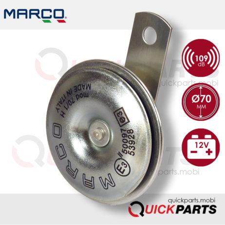 Elektromagnetische Hupe | Ø 70 mm | Marco 102 060 12, 70/1-H
