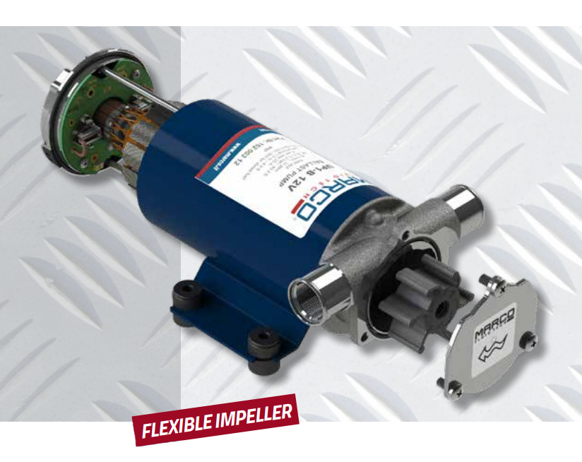 Self-Priming Electric Pump | Fresh water and Sea water | 12V | Marco UP1, Impeller Pumps, Marco 162 002 12, UP1