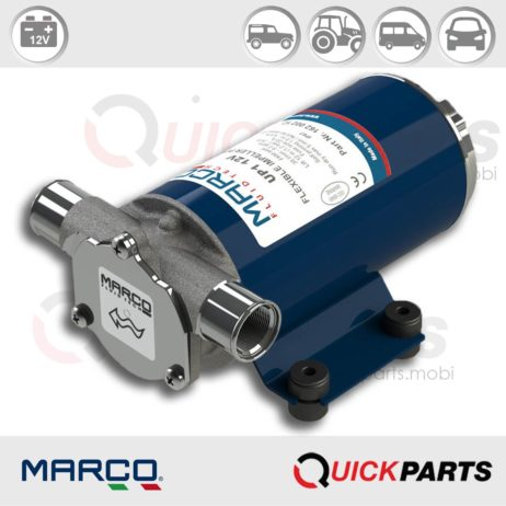 Self-Priming Electric Pump | Fresh water and Sea water | 12V | Marco UP1, Marco 162 002 12, UP1