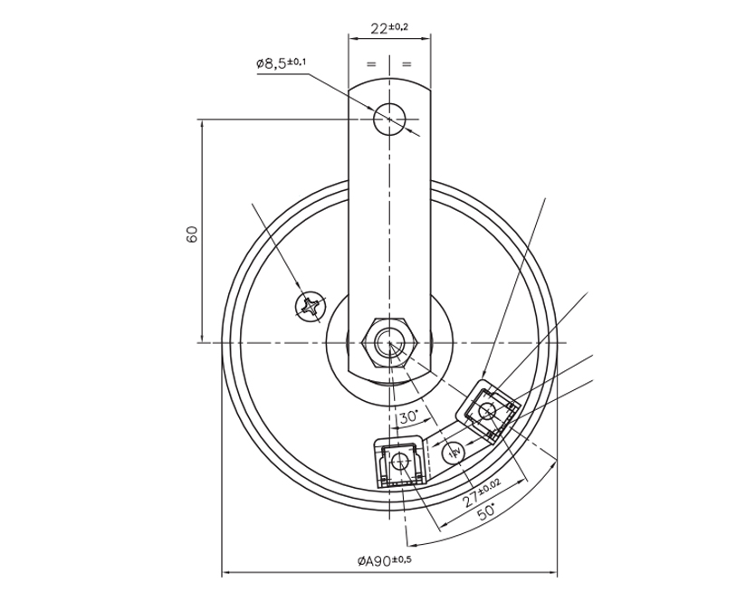 Elektromagnetische Teller-Hupe | 12V | Diagram, Marco 102 000 12, 90/1-H