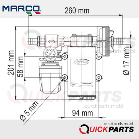 SELF-PRIMING ELECTRIC PUMP FOR TRANSFERRING VARIOUS LIQUIDS 164 620 12 - UP6/A 12V