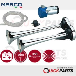 Avertisseur électrique à air à deux cornets pour montage à l'extérieur | 111 dB