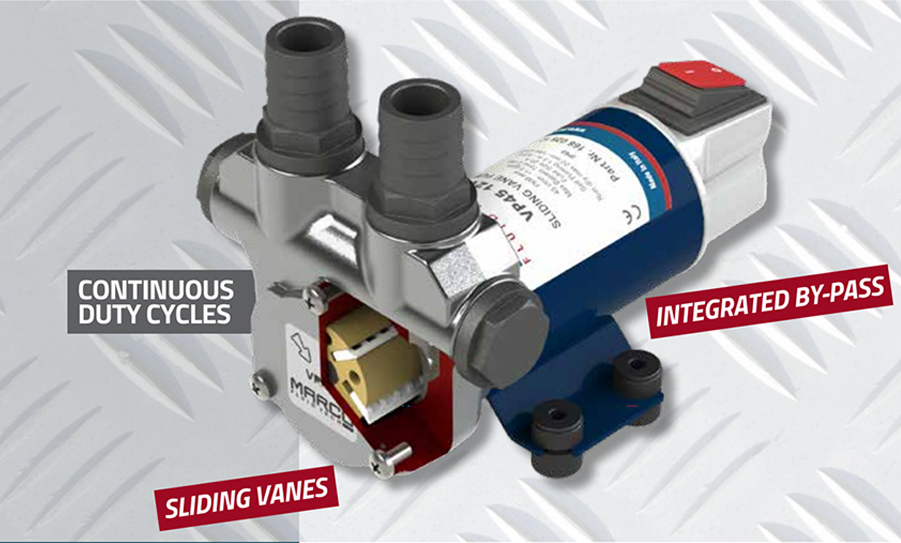 Self-Priming electric pump for various liquids | 12V | Marco VP45, Vane Pumps, Marco VP45, 166 020 12