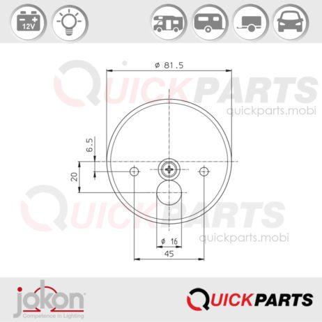 Multiple Function Light | 12V | Jokon E1-43318