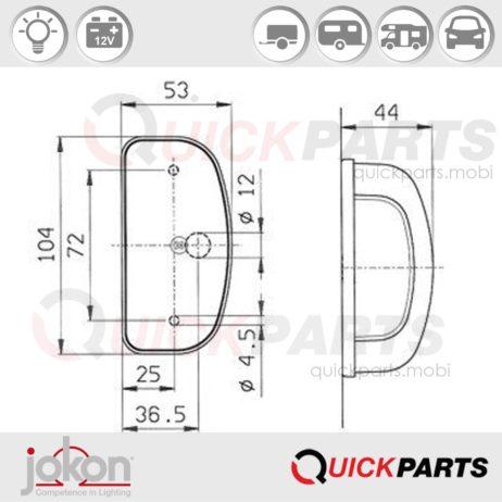 Éclairage de plaque à poser | Jokon E1-22813