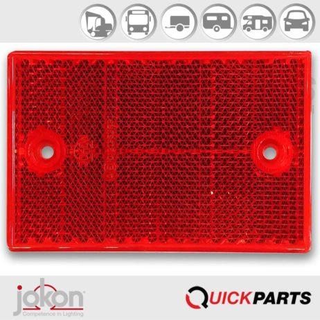 Reflector Rood | 115 x 7 x 75 mm | Opschroefbaar | Jokon 0121345