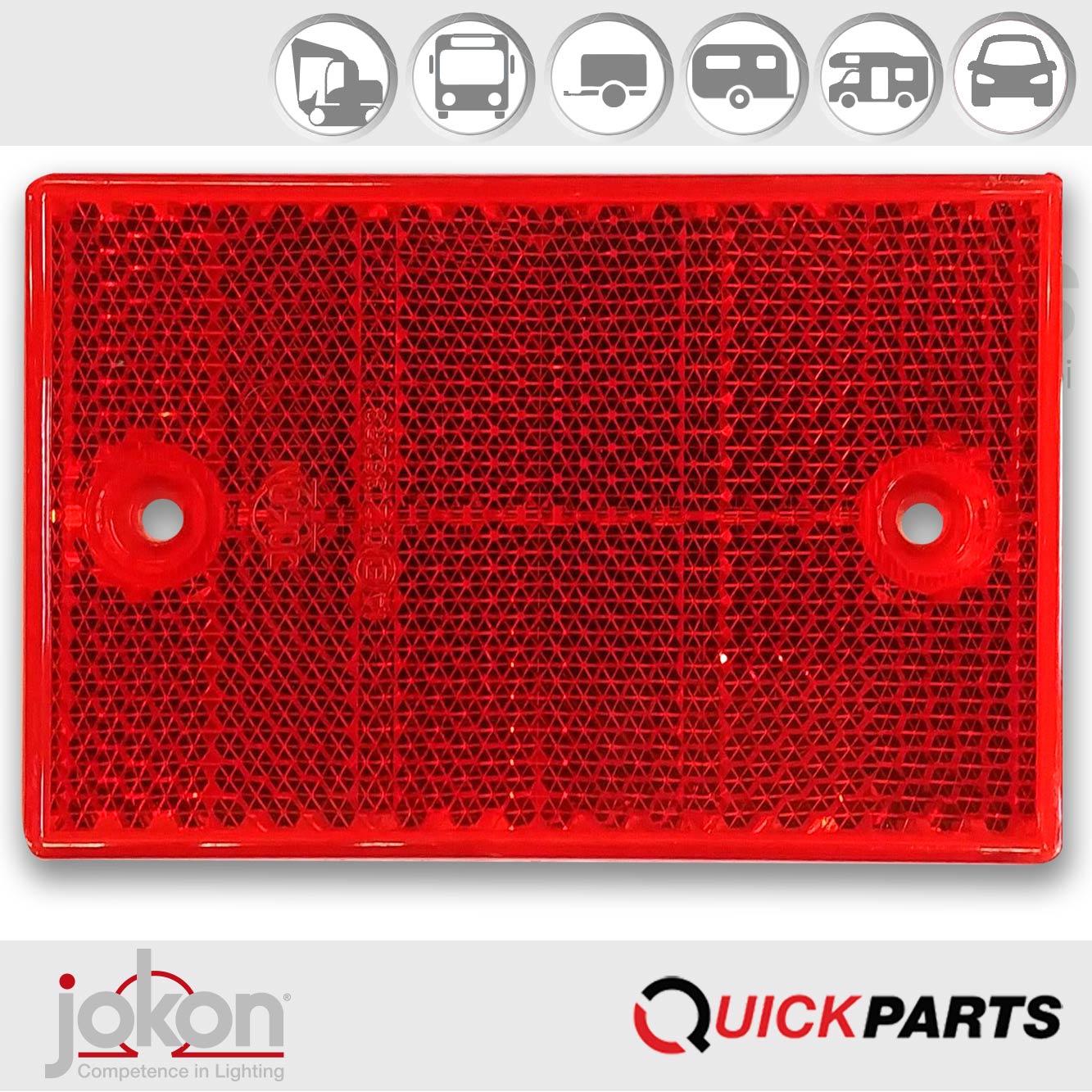 Red Reflex Reflector 115 x 7 x 75 mm