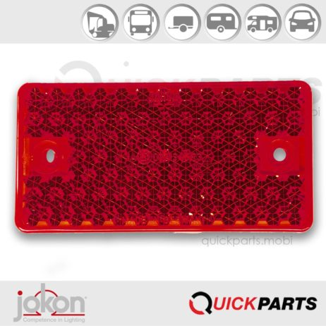 Red Reflex Reflector | Self-adhesive tape | Jokon E1-0121345