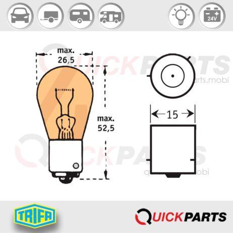 Lámparas intermitentes ámbar 24V | 21W