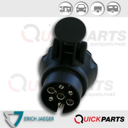 Mini adaptateur pour connecter le véhicule (7P / 12V) à la remorque (13P / 12V)