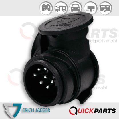 """Shorty"" mini short adapter from vehicle (13P/12V) to trailer (7P/12V)"