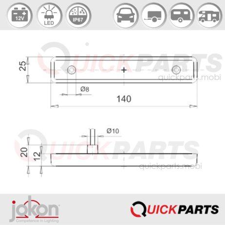 LED Front Marker Light | 12V | Jokon E1-3375