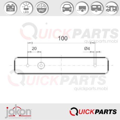 LED Begrenzungsleuchte | 12V | Jokon E1-3375