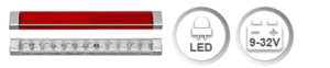 The L250 is a very compact LED light, which can be mounted in any angle (X-axis or vehicle longitudinal central axis) (exept WBL250). This allows to design very distinctive vehicle rear ends. The high grade electronics assures the perfect operation in vehicles with 12 V and also with 24 V on-board voltage. (WBL / BBS 250-24V in preparation)