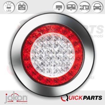 Luz LED trasera dirección, Freno con decoración cromada   Jokon E1 2130