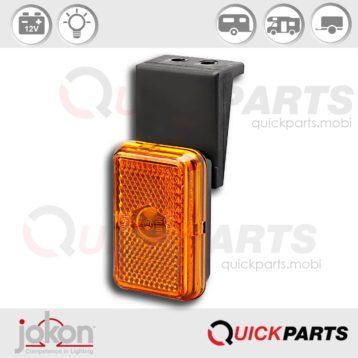 Feu de position latéral orange | catadioptre intégré | 12V | Jokon 12.1004.031, E1-00108 E1-0221339
