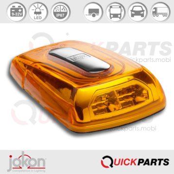 LED-Blinkleuchte Kat. 5/6 | 9-32V | Jokon 13.1051.500, E13-12809 EMV / EMC, BL 2011-2 /9-32g