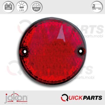 Fog Light red, with voltage 24V | Jokon E2-07047, SN 725/24V