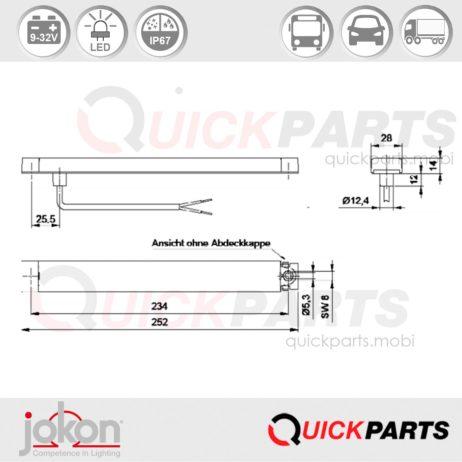 LED Fog Light | 9-32V | Jokon E13-13362 EMV / EMC